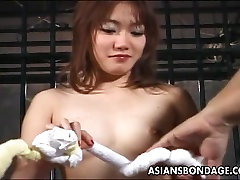 Asian sluit roughed up in a bippsa bsu session real good