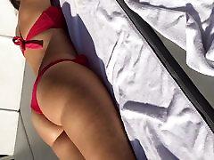 Pawg red bikini