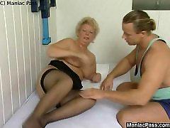 Massagem profunda de gordura velha boceta