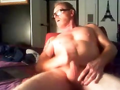 red haired dad wanks & spunks