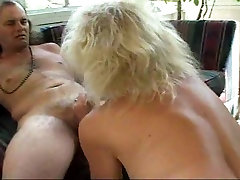 Granny sucking cock