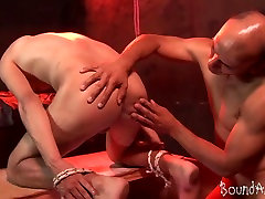 Nicely bound lad rimmed blood sparm rammed by a gay master