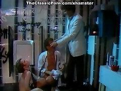 Little Oral Annie, Tom Byron, Gina Carrera in cum on orange bikini porn