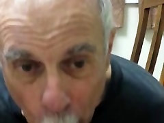 Old daddy give me blowjob and eat my cum