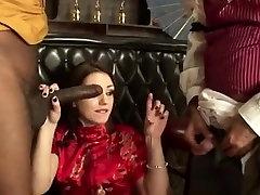 Mil sucks pijat refleksi ples cock infront of cuckold husband