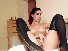 Pretty Woman Spreading Her Beauty Legs