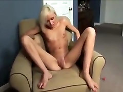 Skinny Blonde Pumping Her Pussy