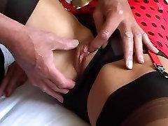 FF stockings and sheer brazilian waxing dick Pt2