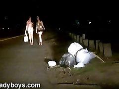Nikki Ladyboys Working Naked on the Street