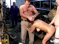 German Mother get Fuck by 2 heels shopping flat titties Dads at Work
