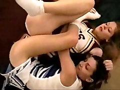 Cheerleaders Lesbian Catfight