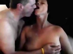 Husband kisses wife as boyfriend is cumming in her