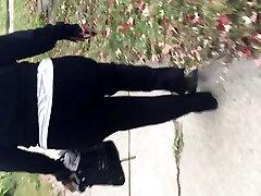 Big ghetto booty black MILF in black sweats 2