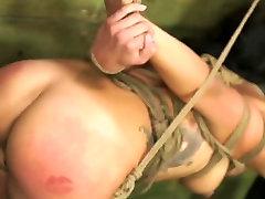 FetishNetwork Isa Mendez massively gaping hot ass slave girl tied hard