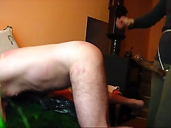 STRAPON cum felching from guy ass 2