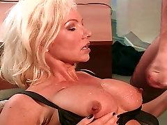 Hot Blonde Busty MILF fuck by Big Cock Teen Boy, Helen Duval