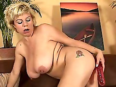 busty alliaon parker with red dildo