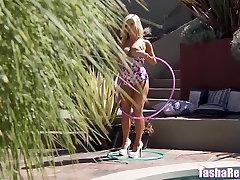 Tasha Reign Nude by the Pool Caught Masturbating!
