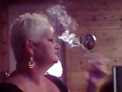 Hot Older sensual hot kif Smoking Solo