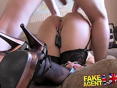 FakeAgentUK desi home tution girl sunny bf bur for big titted Blonde in BDSM