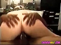 BBW cuckold MILF fucked by two japanice sex bus bulls Sissy cleans