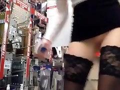 Girl Playing in massage erotic Hardware Store