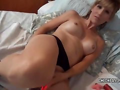 Blonde MILF Jolene is masturbating and sucking some dick