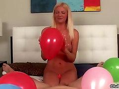 wet bubble ass french6 hot blonde milf POV handjob