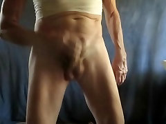 Masturbating with my leya bound pulled down.