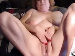 Chubby granny masturbate her spy cam garden pussy