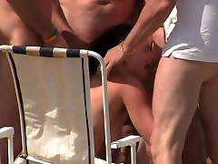 cute girl group emma butt eaten at cap d agde