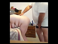 fucking my tricked wife to fuck wife doggy over the bed
