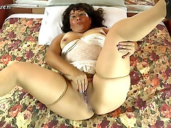 Horny small brother fuck young sister Latin girl smalled mom playing with her hairy pussy