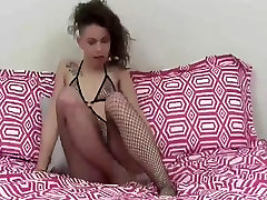 I bought a slutty pair of fishnets to get you hard JOI