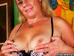 Cristine&039;s old and hairy meena malkova needs to get off