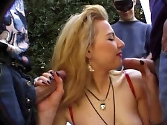 Havana, french milf gand mey shot in the garden