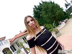 Asstraffic Milena Devi leggy brunette gets a dick in the ass