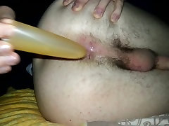 Teen loves to ram a toy into his tiny ass lesbian fuck in taxi up