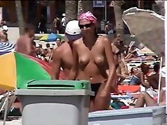 Best ever puffy nipples in the beach