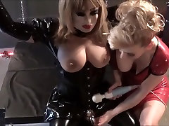 Madame C uses her wand on Bella&039;s breasts and cock