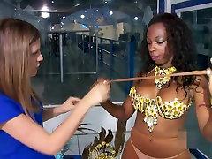 Brazilian Carnaval Dancers in Pantyhose