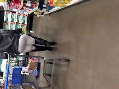 Big 60 plus anal solo GILF in white pants vpl 1