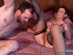 Horny coving center sweety virgin double vaginal plugged and sodomized