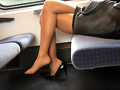 Sexy Legs Heels and Feet in Nylons velentina nappi sexy videos on Train