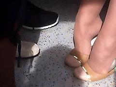 Siiras Istuva Heelpopping Kastmine Shoeplay Jalga Iludus