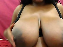 Ebony babe with nice young wifeshare tits