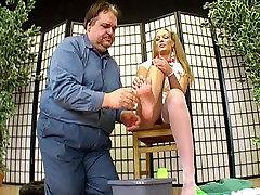 german femdom lady joanne and her foot slave 2