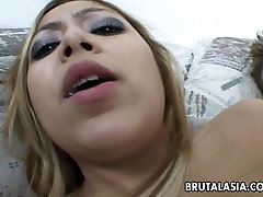 Beautiful Asian slut gets fucked in her ass
