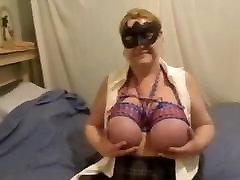 mature bbw big bound tits masturbates for Master