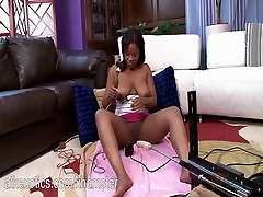 Monique Symone getting fucked by the machine